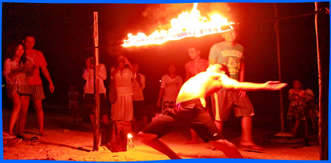 fire show dancer - Koh Samed Nightlife